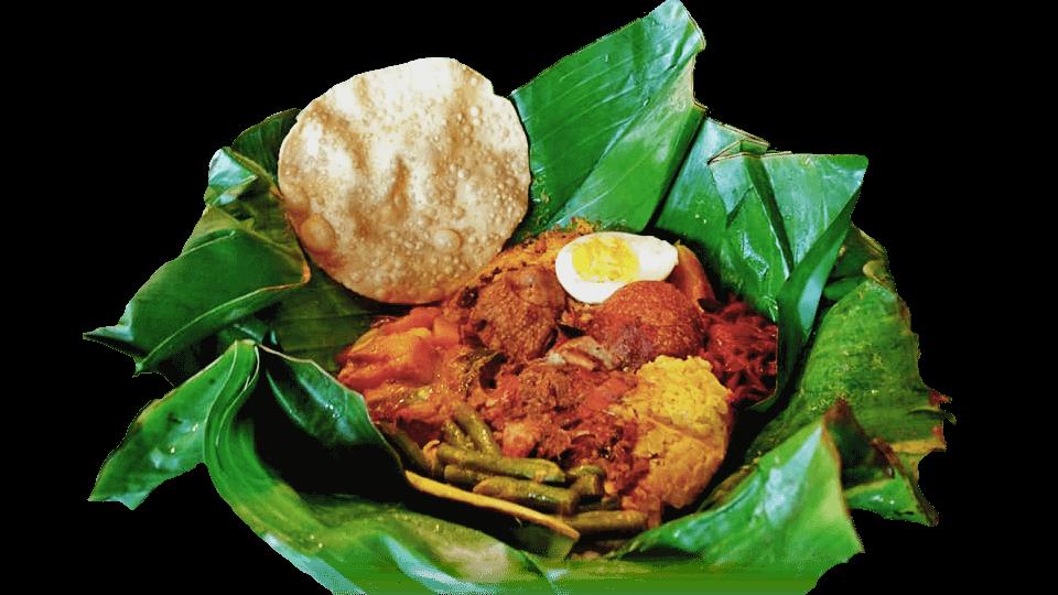 スリランカカレーのバナナリーフ包み